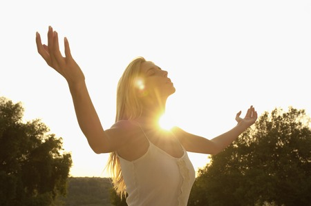 early twenties: Woman Meditating