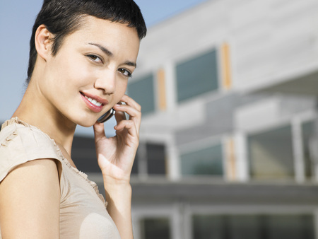 ethnic mixes: Businesswoman Telephoning