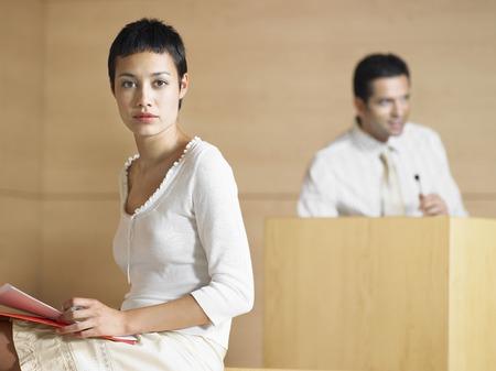 Businesswoman During a Presentation