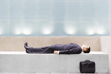napping: Sleeping Businessman