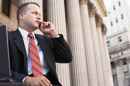 Concerned Attorney on Cell Phone Stock Photo - 5494500