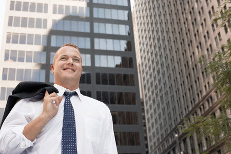 no kw 1: Smiling Businessman Outdoors
