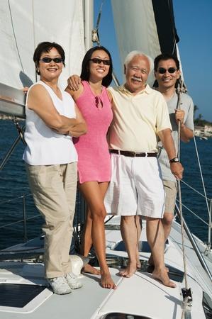 Family smiling on Sailboat (portrait) Stock Photo - 8822699