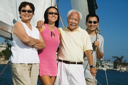 Family sailing (portrait) Stock Photo - 8822700