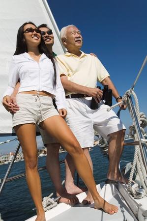 Family on sailboat Stock Photo - 8822711