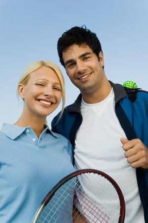 doubles: Mixed doubles tennis players portrait LANG_EVOIMAGES