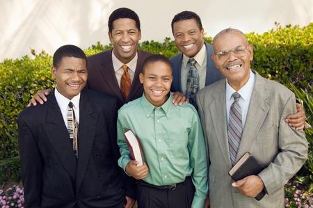 Group of male churchgoers portrait Stock Photo - 8822880