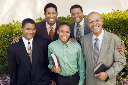 Group of male churchgoers portrait Stock Photo - 8822880