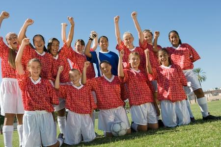 Squadra di calcio ragazze (13-17) Archivio Fotografico