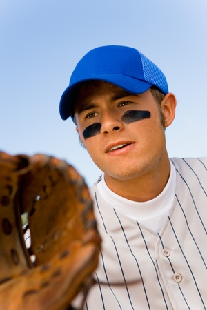 Baseball infielder playing Stock Photo - 8836437