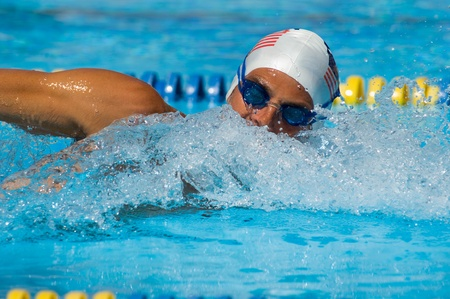 Competitive Swimmer Stock Photo - 8837159
