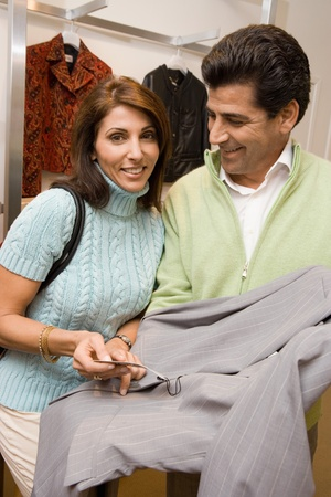 Couple shopping together portrait Stock Photo - 8837269