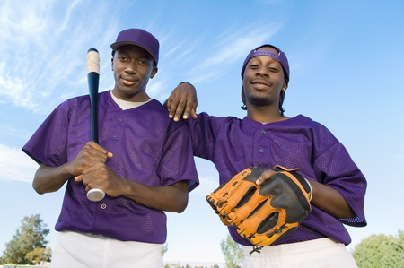 Baseball players outdoors (portrait) Stock Photo - 8837291