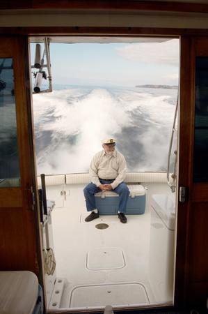 boater: Boater at back of boat