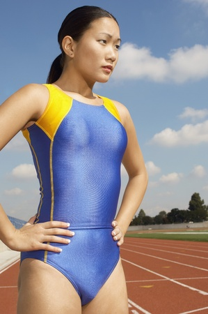 Female athlete half length Stock Photo - 8822434