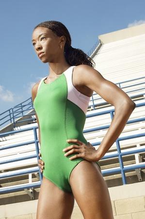 Female athlete half length Stock Photo - 8837501