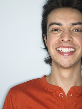 Man smiling in studio head and shoulders Stock Photo - 8844561