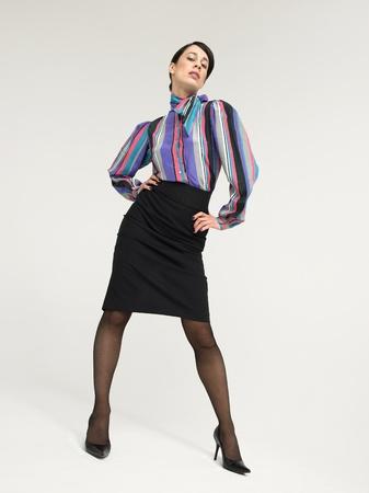 Business Woman Posing in Studio Stock Photo - 8844576