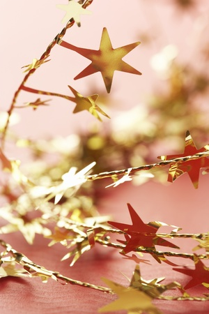Christmas star decorations close-up Stock Photo - 8844628