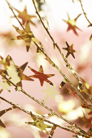Christmas star decorations close-up Stock Photo - 8844629