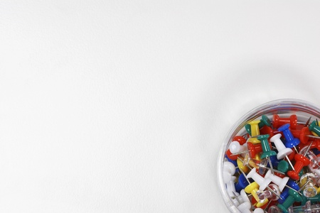 Container of Push Pins overhead view Stock Photo - 8844650