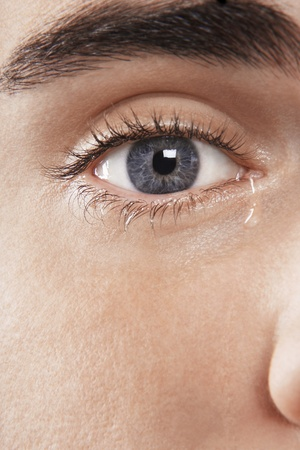 Man's eye crying Stock Photo - 8844715