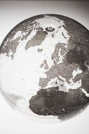 transparency: Inflatable Globe showing Northern Hemisphere