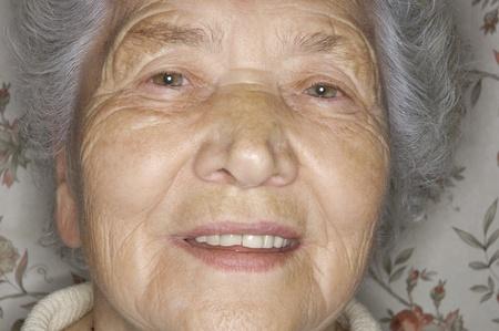 Elderly woman portrait close-up Stock Photo - 8844827