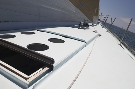 Open Hatch on Yacht Stock Photo - 12513629