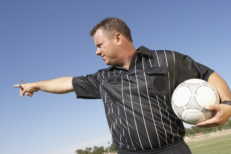Soccer Referee Gesturing Stock Photo - 12513634