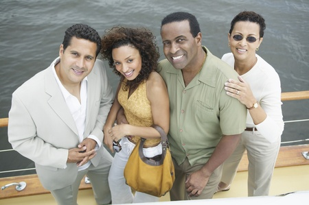 Four Friends on Yacht Stock Photo - 12513644