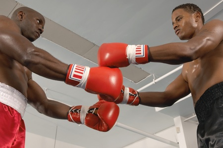 two person only: Two Boxers Before Fight LANG_EVOIMAGES