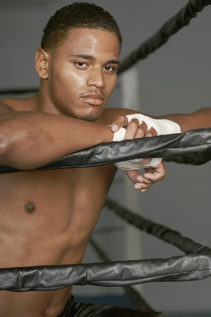 boxing tape: Boxer with Taped Hands