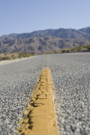 road surface: Dividing line on highway