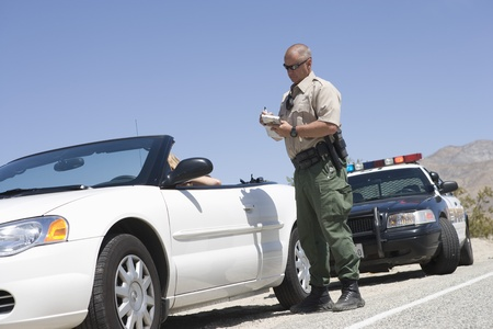 Police car: Patrol officer with convertible