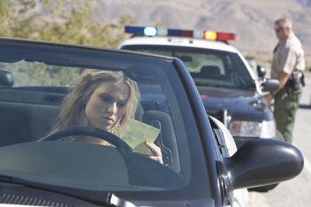 female cop: Police officer returns to his car after issuing a ticket LANG_EVOIMAGES