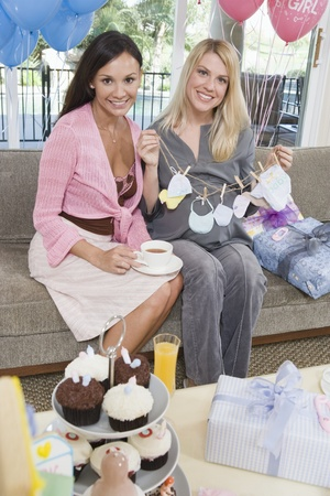 Two Women at a Baby Shower Stock Photo - 12513847