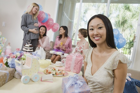 Women at a Baby Shower Stock Photo - 12513853