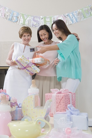 Women at a Baby Shower Stock Photo - 12513859