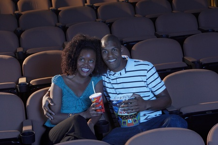 Couple Watching Movie Stock Photo - 12513946