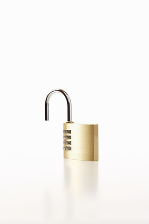 locking up: Padlock