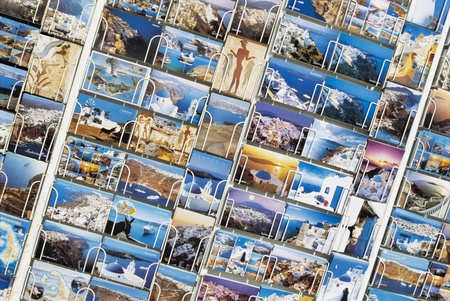 Postcards in Display Rack Stock Photo - 12514024