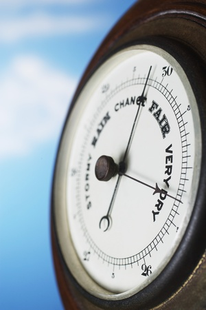 humidity gauge: Barometer close up