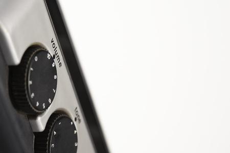 Volume and tone dials close up in studio Stock Photo - 12514093
