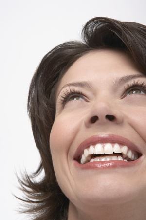 Woman with large smile close-up Stock Photo - 12514156