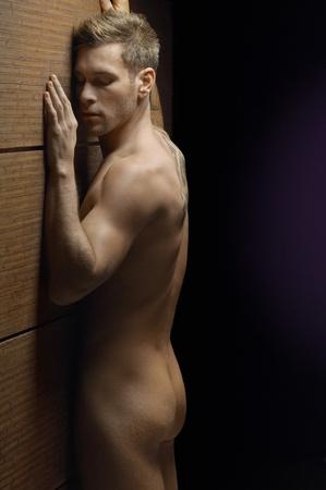 Nude man indoors portrait Stock Photo - 12547830