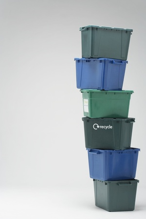 Stack of Empty Recycling Boxes Stock Photo - 12547857