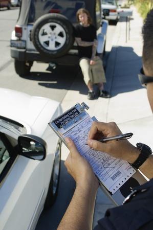 policier: Billet d'�criture Officier de Police LANG_EVOIMAGES