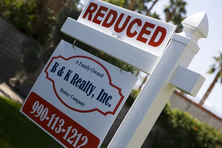 political and social issues: Real Estate Sign Advertising Reduced Price