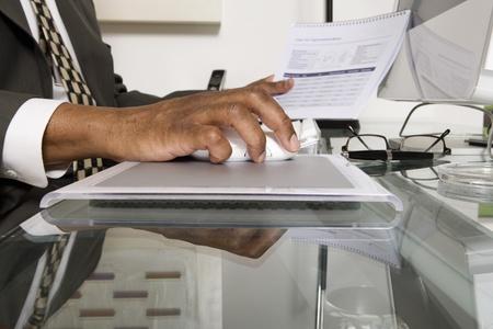 account executive: Businessman Using a Computer
